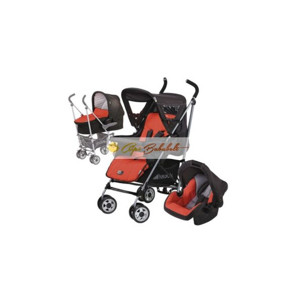 Hauck Turbo Plus 3 in 1 babakocsi szett Red